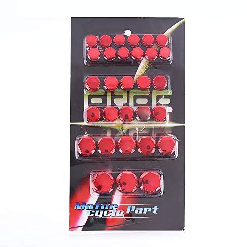 Tappo a vite, 30Pcs Motocicletta Moto Vite Bullone Tappo coperchio Decorazione(Rosso)