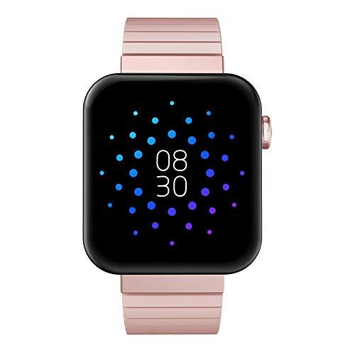 QXbecky Reloj Inteligente Bluetooth Llamada iOSAndroid Reloj música Control cronómetro rastreador de Ejercicios Salud Pulsera Reloj Rosa