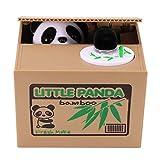 Wowlela Hucha, Hucha de Monedas de Panda Travesura, Linda Hucha de Panda para niños, Hucha de Ahorro de Monedas de Panda automatizada para niños, niñas, Adultos, Gran Regalo de la Hucha de Monedas