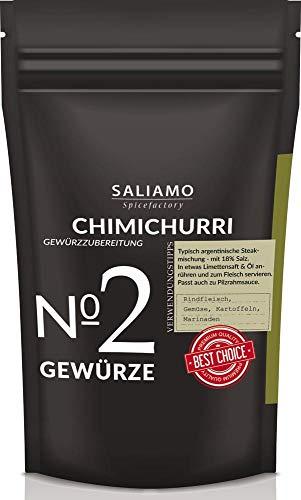 Chimichurri Gewürzmischung, Grillgewürz BBQ Saucen, als Rub geeignet, argentinische Steakmischung, Steakgewürz, als Basis für BBQ Saucen 100 g | Saliamo