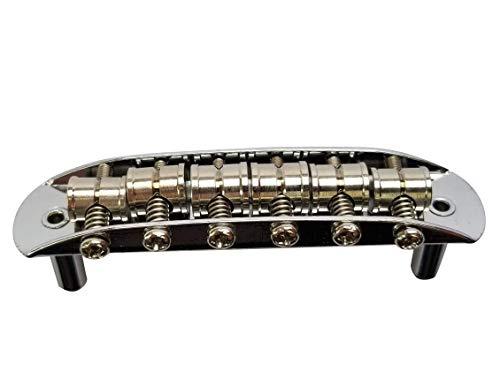 Mustang Bridge w/Large Saddles, also fits Fender Jaguar or Jazzmaster- Chrome