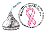 216 BREAST CANCER AWARENESS HERSHEY KISSES KISS LABELS