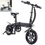 Bicicleta electrica Plegable Velocidad máxima 25 KM/H Bicicleta montaña Adulto Voltaje/Capacidad 36V / 10AH Bici Plegable Endurance 40-45KM, Disco de Freno Adecuado para una Altura Inferior a 178 cm.