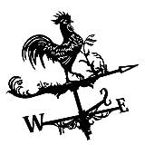 Decorative Accessori da giardino Banderuola Giardino Palo Direzione del vento Indicatore di strumento di misurazione del supporto del tetto con gallo ornamento Decorazione per Outdoor Agriturismo Yard