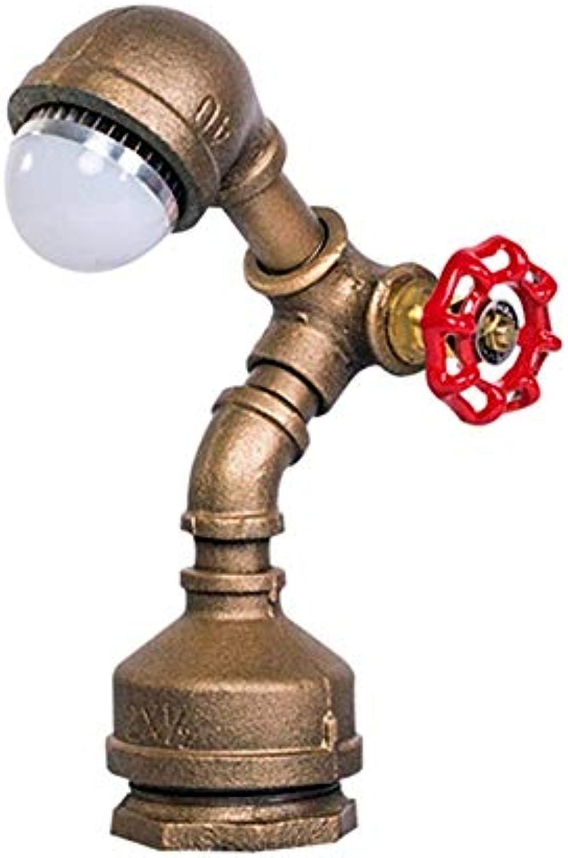 HYX Neue Brauchwasserleitung Roboter Tischlampe Kreative Persnlichkeit Nachttischlampe Lesen Neben Schlafzimmer Wohnkultur Moderne Led-Licht Retro