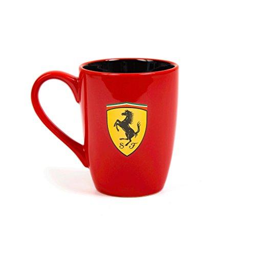 Ferrari Scuderia Scudetto-Becher, draußen rot und innen schwarz, 2018, F1, offizielles Lizenzprodukt