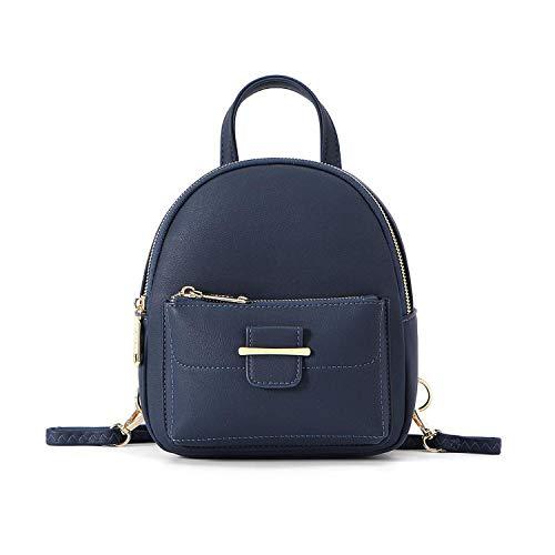 Hopereo Mini mochila 2020 de piel sintética pequeña para mujer, mochila de verano para viajes y niñas, color Azul, talla Talla única