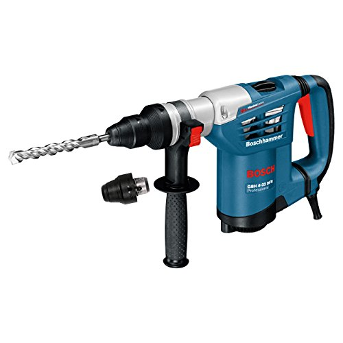 Bosch 611332171 GBH4-32DFR Multidrill 4kg Rotary Hammer with Accessories, 240V, Navy Blue