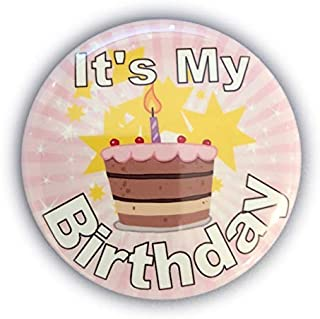It's My Birthday Button Happy Button - Party Birthday Pins for Adults, Kids, Men or Women - Birthday Badges Made in The US...