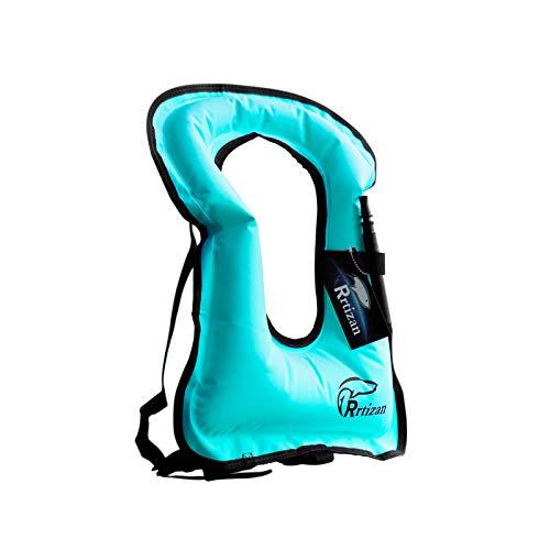 Rrtizan Schwimmweste Kinder, Schwimmen Jacke für Kinder und Kleinkinder von 1-9 Jahre / 20-60 lbs, Aufblasbare Auftriebshilfe Schwimmhilfe Schwimmflügel für Kinder Jungen und Mädchen