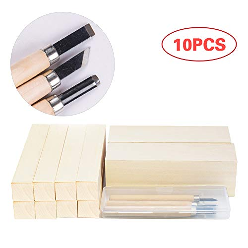 Large Premium Basswood Wood Carving Blocks Kit - Whittling Beginners Soft Wood Carving Block Set - Hobby Kit for Adults Creativity for Kids - Unfinished Wood, 30% More Wood Than Other Sellers.