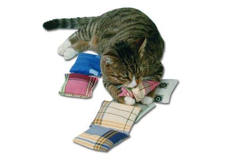Katzenspielkissen mit Katzen Minze, Baldrian, Dinkel 5g