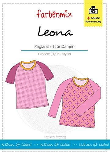 Farbenmix Leona Schnittmuster (Papierschnittmuster für die Größen 34/36-46/48) Raglanshirt
