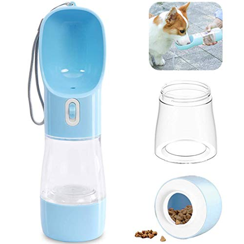 Yiflin Dog Water Bottles for Walking, 3 in 1 Dog Water Bottle, Dog Travel Water Bottle, Portable Pet Water Bottle, Lightweight & Convenient and BPA Free