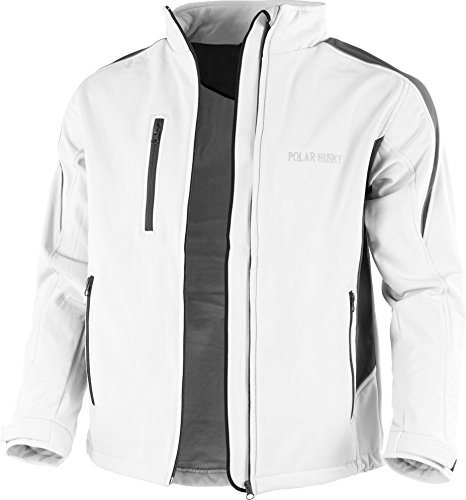 Polar Husky® Softshell-Jacke mit Fleece-Innenfutter Farbe Weiß/Grau Größe S