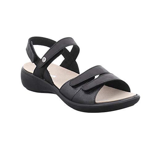 Romika Ibiza 108 Sandalen in Übergrößen Schwarz 16108 189 100 große Damenschuhe, Größe:42