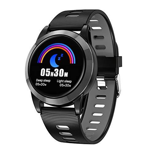 OOLIFENG Fitness Tracker, Pedometro da Polso Impermeabile IP67 con Cardiofrequenzimetro Smartwatch per Donna Uomo e Bambin Chiama SMS Notifica SnS,SiliconeGray