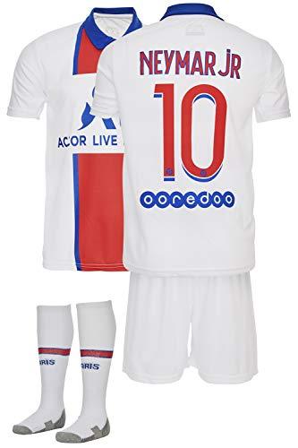 AMD SPORTS Paris 2020-21 Away Maillots de Football pour Enfants Neymar avec des Chaussettes Et des Shorts, (Tailles Enfants 2-14 Ans)… (Neymar Away, 128)