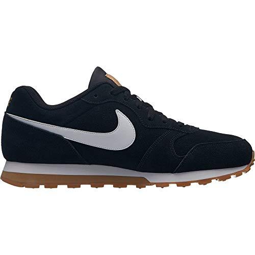 Nike MD Runner 2 Suede Sneaker Sportschuhe retro Schwarz AQ9211 001, 44.5 EU