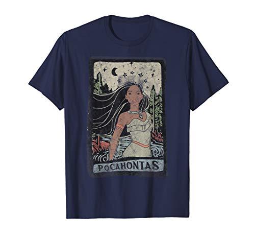 Disney Pocahontas Vintage Portrait Style Graphic T-Shirt
