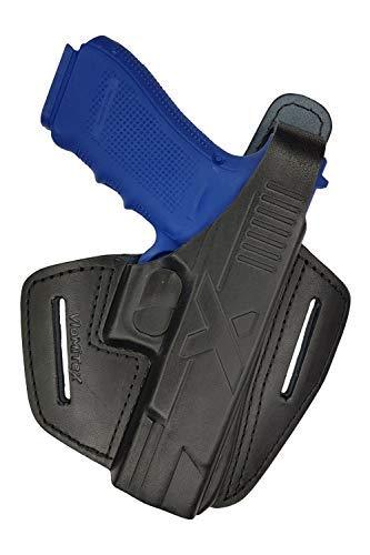 VlaMiTex B9 Funda para pistola Glock 20/21/Zoraki 917, para cinturón, de piel 100%
