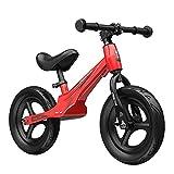 WYYY Bicicleta De Balance De Niños Pequeños Ligeros, Entrenador De Balance Lindo para 3-8 Años De Edad, Aprende A Andar En Bicicleta con Ruedas De 12'Pulgadas Sin Pinchazo(Color:Rojo)