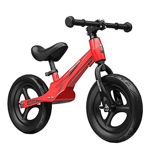 WYYY Balance Bike Für 2-8 Jahre Alte Jungen Und Mädchen Kein Pedal Kleinkind Fahrrad Training Fahrrad Für Kinder Mit 12 '' Rädern, Einstellbarer Lenker Und Sitz, Eva-Reifen(Color:rot)