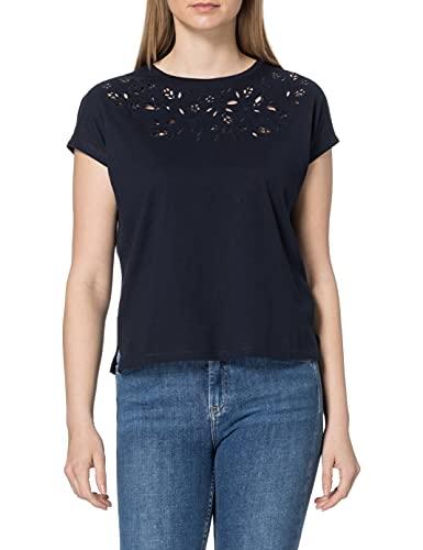 TOM TAILOR Damen 1025271 Embroidery T-Shirt, 10668-Sky Captain Blue, M