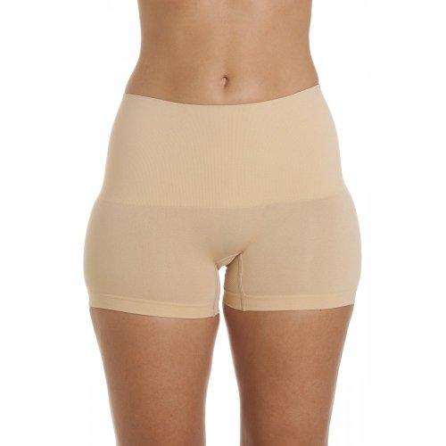 Camille Braga pantalón Moldeadora - Sin Costuras - Dos Paquetes - Beige S