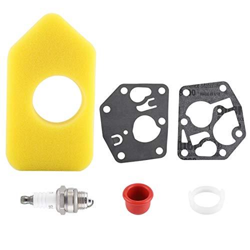 Niiyen Kit Completo de Junta de diafragma de carburador, Kit de bujía de Filtro de Aire de Junta de diafragma de carburador para Motores