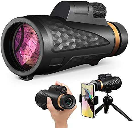 YINOR Monocular Telescope, 18X62 High Power HD Monocular Scope,Day & Low Night Vision,Waterproof Monoculars for Adults with Smartphone Holder Suitable for Outdoor Viewing, Hunting