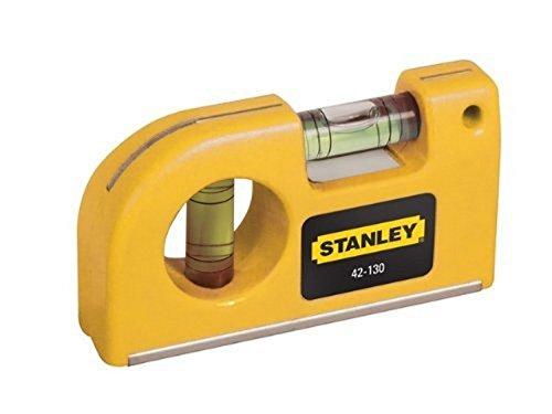 Stanley Taschen-Wasserwaage (magnetisch, horizontale / vertikale Libellen, Kunststoffgehäuse) 0-42-130
