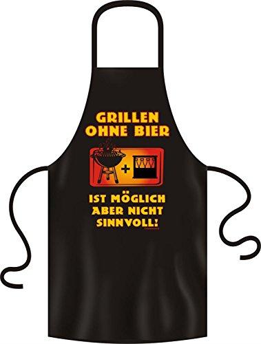 RAHMENLOS Lustige Grillschürze Kochschürze Schürze Grillen ohne Bier