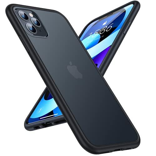 TORRAS Extrem Sturzfest iPhone 11 Pro Hülle (Schutz nach Militärstandard) Unzerstörbare iPhone 11 Pro Schutzhülle Starke Stoßfestigkeit Exzellente Kratzfestigkeit Hülle iPhone 11 Pro - Mattschwarz