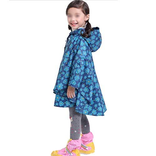 Majing Regenbekleidung- Kinder Kapuzenmantel Atmungsaktiver Poncho, Jungen Und Mädchen Kindergarten 1-10 Jahre Regenmantel 100% Wasserdicht Dünnschliff (Size : S)