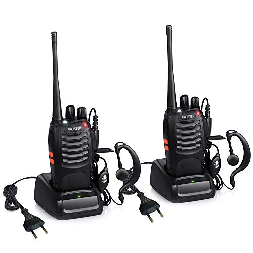 Proster Walkie Talkie Recargables 16 Canales Walkies Profecionales CTCSS DCS Walky Walky...