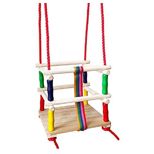 Oscilación de los niños Swing Kids del asiento de la silla de oscilación colgante por actividades interiores y exteriores Conjuntos de gimnasia y columpios ( Color : Multicolor , Size : 30x30x2.4cm )