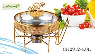 HARMONY GOLD DECAL STAINLESS STEEL CHAFING DISH 4.0L