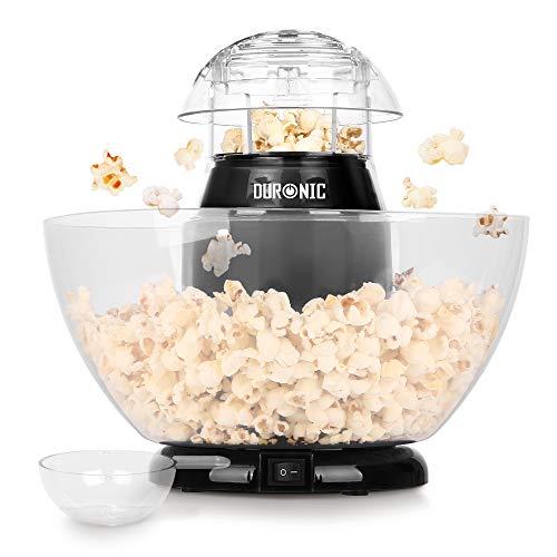 La macchina per popcorn POP50 Duronic è dotata di un sistema di cottura ad aria calda che riscalda i chicchi di mais in modo rapido e uniforme, cuocendo l'equivalente di 50 grammi di chicchi di mais in meno di 3 minuti. Il misurino incluso consente d...