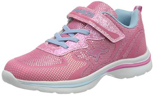 KangaROOS KangaGlozzy EV Sneaker Low, Fandango pink/Blue Sky, 31 EU