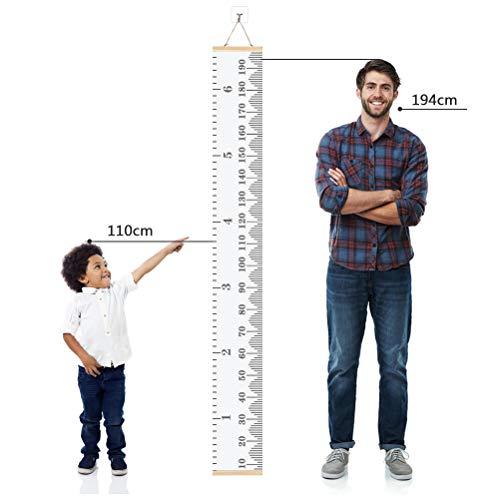Atpwonz子供身長計壁掛け身長測定子供の成長記録木製子供部屋の装飾測定範囲0-190cm北欧インテリアおしゃれ新年クリスマスプレゼント