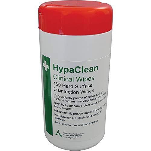 Set von 100 Safety First Aid d5201/Hypaclean Sterile Feuchtt/ücher