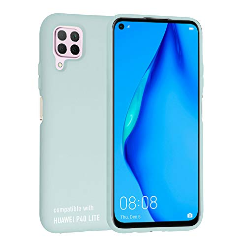 SmarTect Silikon Handyhülle für Huawei P40 Lite - Silikoncase in Meer Grün - Perfekte Passform - rutschfeste Oberfläche der Hülle - Weich gefütterte Innenseite