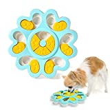 Dog Food Toy - Pet Smart Puzzle Interactive Toys, Improve IQ Dog Training Games Feeder, Bite-resistant Anti-slip Suitable for Young Pets, Slow Eating Dog Food Bowl Prevent Eating Too Fast (blue)