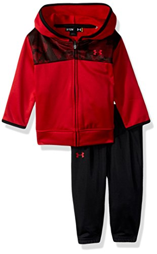 Under Armour Baby Boys' Hoody Track Set, (27D92029-80) / Camo Black/University Red, 9-12 Months