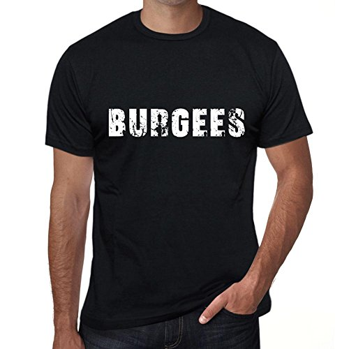 One in the City Hombre Camiseta Personalizada Regalo Original con Mensaje Divertido burgees L Negro