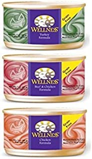 Wellness Complete Cat Food Variety Bundle 3 oz. - 3 Flavors (12 cans)