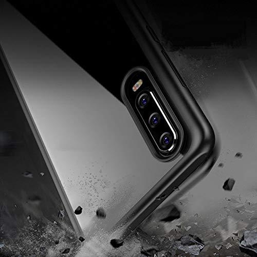 Joyguard Huawei P30 Hülle [Premium TPU + PC] [Hybrid Transparent] [Shock Proof] [Anti-Kratzer] [Ultra Slim] Huawei P30 Hülle Transparent – Schwarz - 4