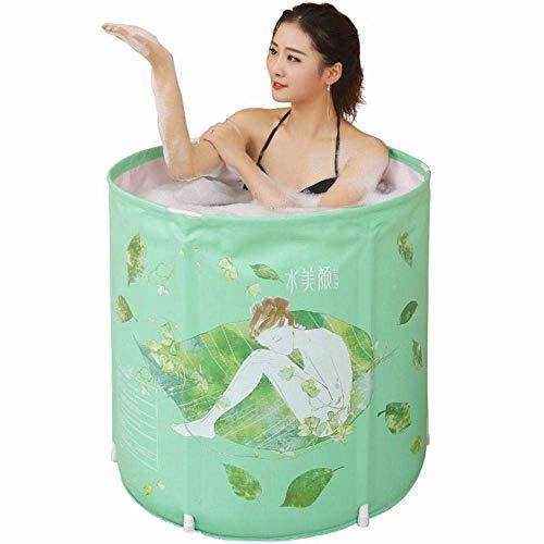LXYFC Badewannen Aufblasbare, Erwachsene zusammenklappbare frei aufblasbares Badebottich, einfacher Haushalt Bad Barrel Multiable Badewanne Folding, Convenient-Grün, 70 * 70cm