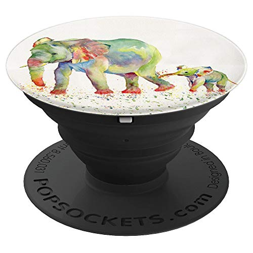 Baby Elephant Pop Mount Socket animal design watercolor PopSockets Grip and Stand for Phones and Tablets